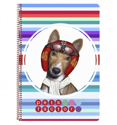 FOLIO NOTEBOOK 80 H HARDCOVER PET FAC