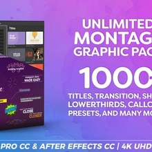 Montage Graphic Pack / Titles / Transitions / Lower Thirds and more – Videohive