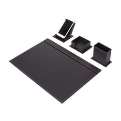 Conjunto de escritorio Vega de 4 piezas (organizador de escritorio, accesorios de oficina, accesorios de escritorio, suministros de oficina, organizador de oficina)