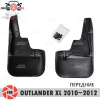 Palas carro para Mitsubishi Outlander XL 2010 ~ 2012 mudflaps respingo guardas mud flap mudguards fender acessórios do carro da frente|Estilo de cromo| |  -