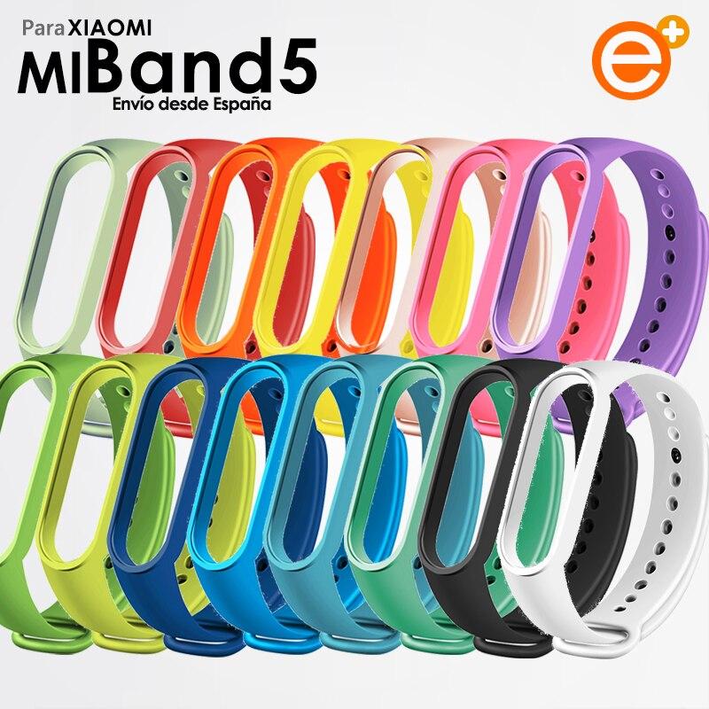 Силиконовые ремешки для Xiaomi Mi Band 5 Сменные Красочные Гибкие и регулируемые ремешки водонепроницаемые и устойчивые