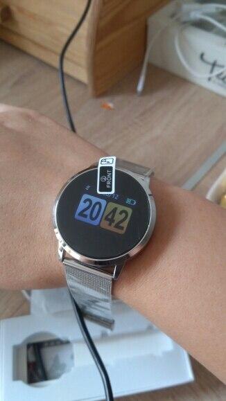 New Q8 OLED Bluetooth Smart Watch Stainless Steel Waterproof Wearable Device Smartwatch Wristwatch Men Women Fitness Tracker-in Smart Watches from Consumer Electronics on AliExpress