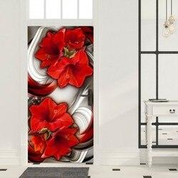 Foto Behang Voor Deur-Foto Behang-Abstractie En Netwerk Bloemen Ik