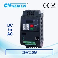 2.2KW 220V VFD Solar DC Input DC200 400V 3 Phase Output 220V Frequency Converter / Adjustable Speed Drive / Frequency Inverter