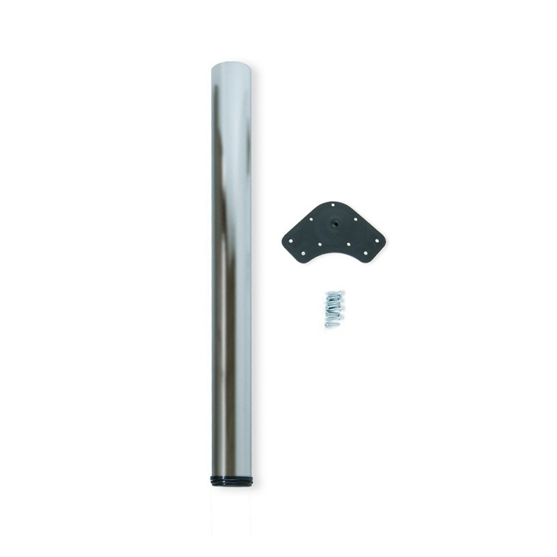 Table Leg Dimmable Emuca D. 80x710mm Steel Satin Nickel