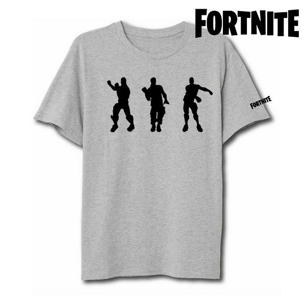 Unisex Short Sleeve T Shirt Fortnite 75062 Grey|  - title=