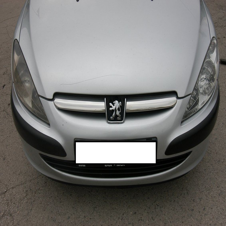 Bright Silver Chrome Stainless Exterior Refit Front Hood Racing Grill Grille Moulding Cover Sticker For Peugeot 307  2001 - 2005
