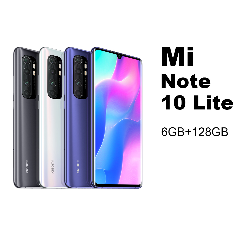 Mi Note 10 Lite 6GB 128GB Mobile phone Smartphone Cellphone Xiaomi Redmi MIUI AndroidSnapdragon730G Octa Core 64MP Quad Camera 5260mAh 6.47