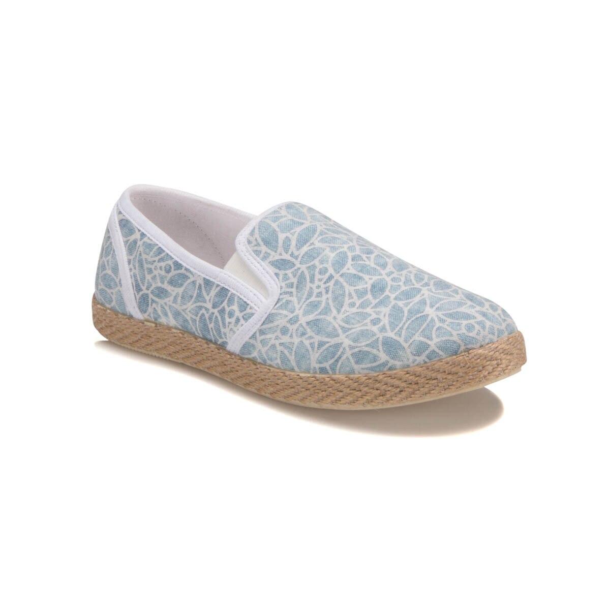 FLO U2803 Light Blue Women 'S Slip On Shoes Carmens