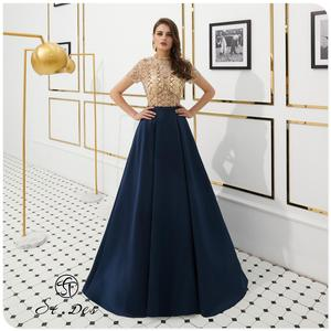 NEW 2020 St.Des A-line Russian Round-Neck Champagne Blue Wine Diamond Sequins Sleeveless Floor Length Evening Dress Party Dress
