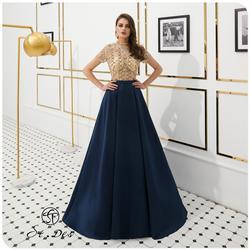 Nuovo 2020 St. des A-line Russo Round-Neck Champagne di Vino Blu Diamante Paillettes Senza Maniche di Lunghezza Del Pavimento Del Vestito da Sera Del Vestito da Partito