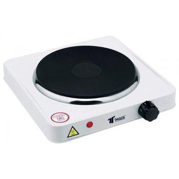Houseware Cocina eléctrica TH-CE1000 1 fuego 1000W,acero inoxidable,antiadherente.Señal LED,Protección contra sobrecalentamiento 1