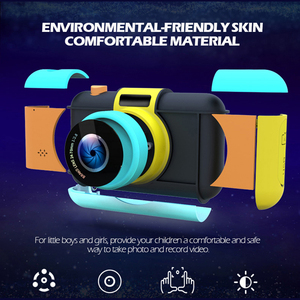Image 2 - Mini aparat dziecięcy Mini 2.4 Cal Ful ekran HD podwójny obiektyw cyfrowy aparat zabawka wakacje zdjęcie wideo prezent na boże narodzenie aparat zabawka
