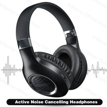 True Active Noise Cancelling ANC Headphones Bluetooth Earphones Wireless Headphone Support Wired Connection HiFi Stereo With Mic zealot b21 bluetooth 4 0 stereo bass hifi headphones touch contorl noise cancelling portable wireless sports headphone earphones