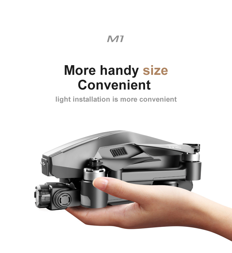 U5d65f10dd64143ce97b2244281087a92J - 2021 M1 Pro 2 drone 4k HD mechanical 2-Axis gimbal camera 5G wifi gps system supports TF card drones distance 1.6km
