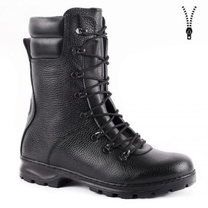 demiseason genuine leather lace-up black army ankle boots men high shoes flat military boots 5026/1 WA