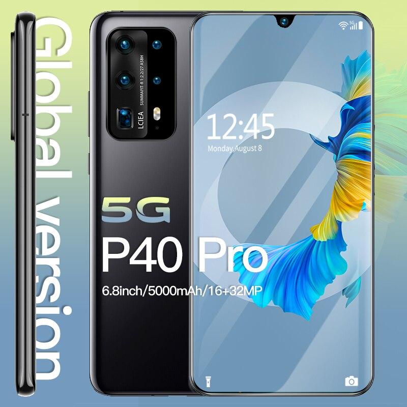 Смартфон Android 10 5g Hawei P40 Pro, разблокированные смартфоны 6,8 дюйма, мобильный телефон MTK 6595, сотовый телефон 512 ГБ, разблокированный телефон 4g
