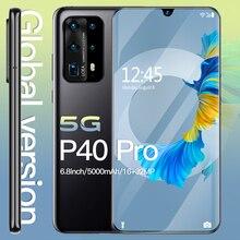 "Smartphone android 10 5g hawei p40 pro telefones inteligentes desbloqueado 6.8 ""mtk 6595 telefones celulares 512gb telefone celular desbloqueado 4g telefone"