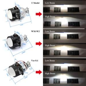Image 5 - RONAN faro delantero de Xenón HID para coche, luz de estacionamiento Bixenón, Bombilla H1 con casquillo H4 H7, 2,5