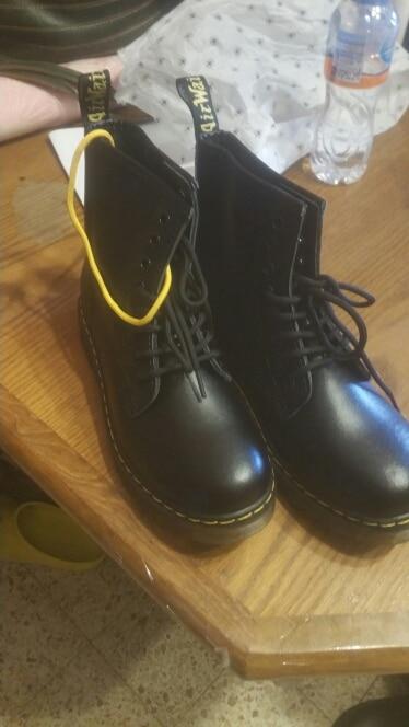 Doc femme bottes plate forme Martins chaussures femme cuir