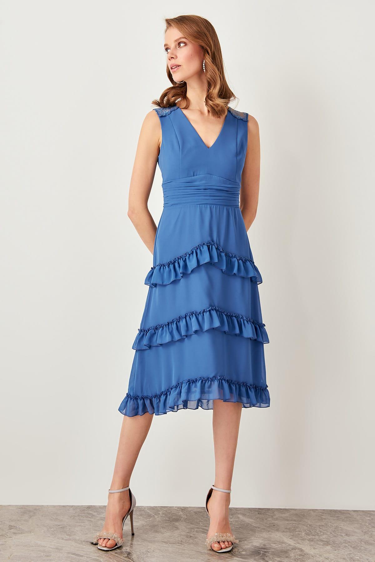 Trendyol Ruffle Detail Dress TPRSS19UZ0048