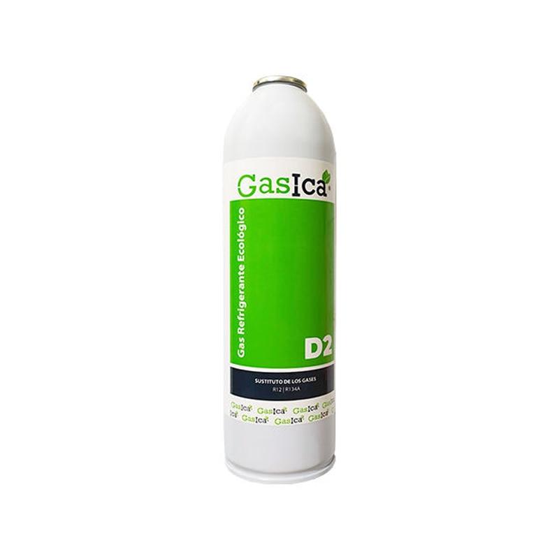 GASICA D2 Refrigerant Gas Organic Surrogate R12/R134a 311.8gr Refrigerant Air Conditionings Surrogate Gases Clorofluorados