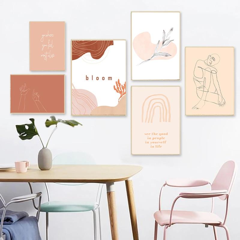 Line Drawing Abstract Print Home Decor