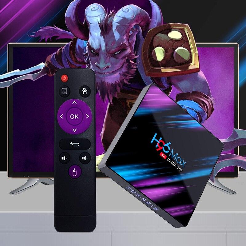 Android 9.0 TV Box 4GB RAM 32GB 64GB ROM décodeur H96 MAX RK3318 4K 2.4G/5G WiFi Bluetooth lecteur multimédia intelligent pk tx3 mini