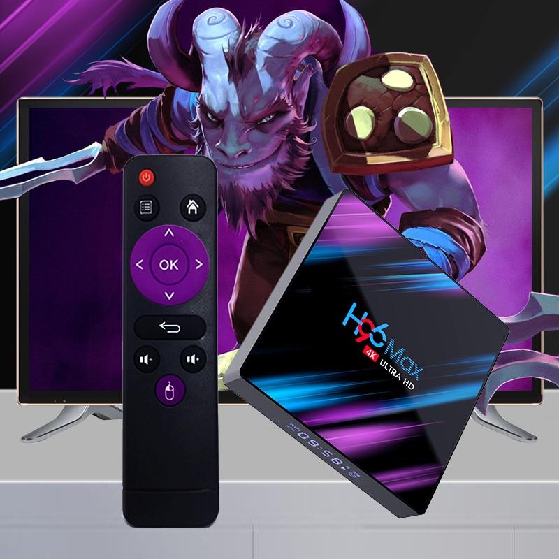 Android 9.0 TV Box 4GB RAM 32GB 64GB ROM Set Top Box H96 MAX RK3318 4K 2.4G/5G WiFi Bluetooth smart Media Player pk tx3 mini