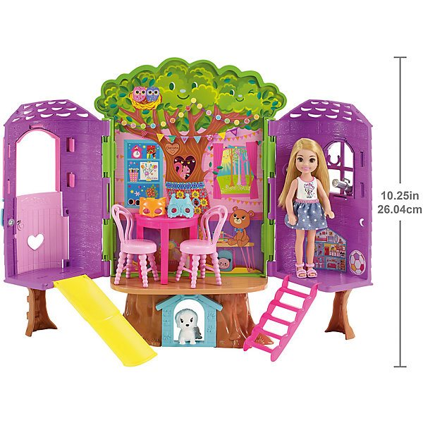 Game Set Barbie's House On The Tree Chelsea's