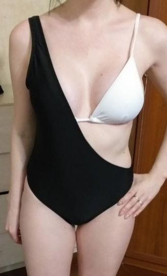 2 in 1 Bikini and One Shoulder Brazilian Swimsuit photo review