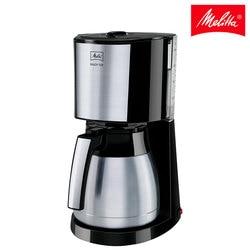 Cafetera goteo Melitta Enjoy Top Therm 1017-08, cafetera de filtro eléctrica con jarra isotérmica, negro y acero inoxidable