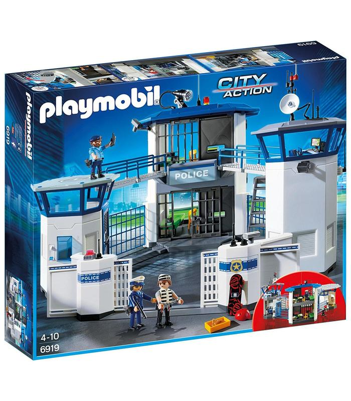 Playmobil 6919 Commissioner Police With Prison Toy Store