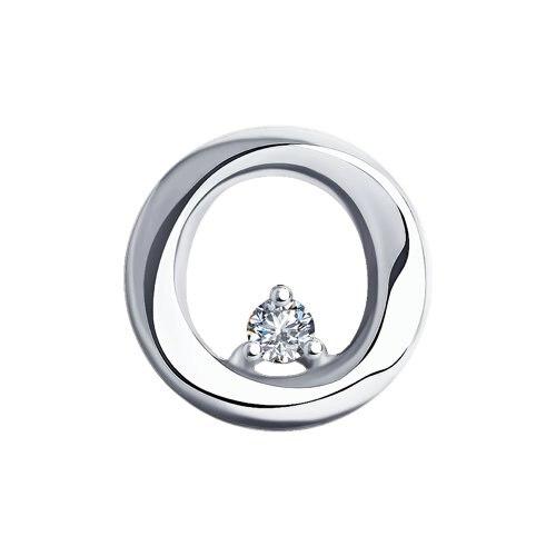 Sokolov Pendant In White Gold With Diamond, Fashion Jewelry, 585, Women's Male, Pendants For Neck Women