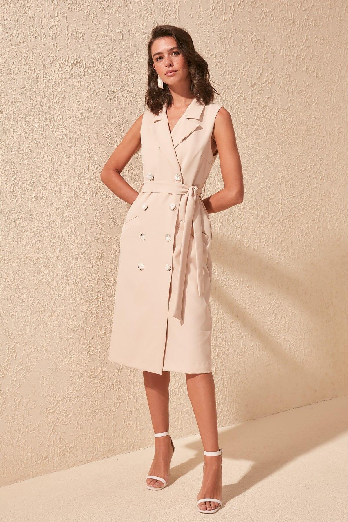 Trendyol Belted Jacket Dress TWOSS20EL2474