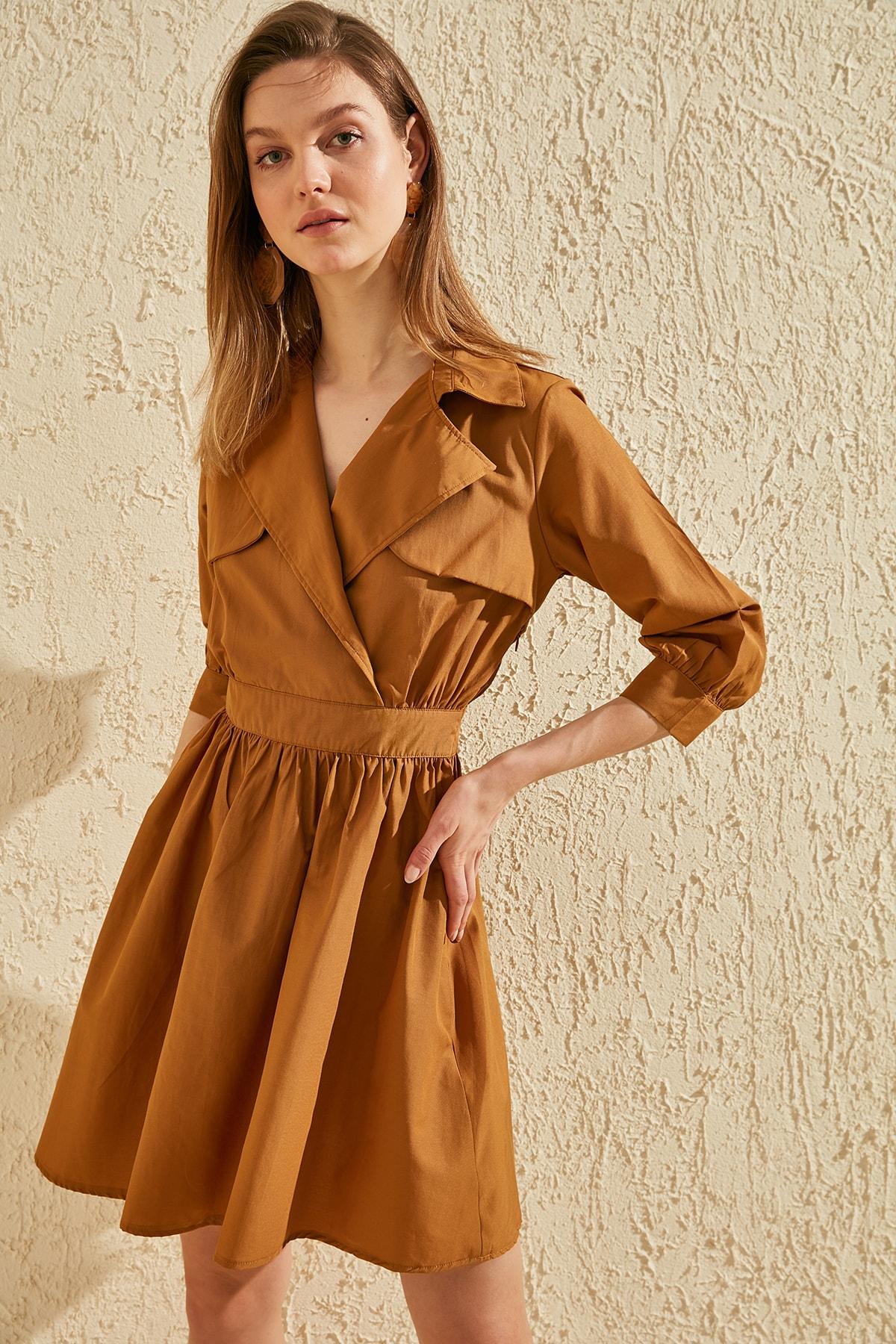 Trendyol Collar Detail Dress TWOSS20EL0515