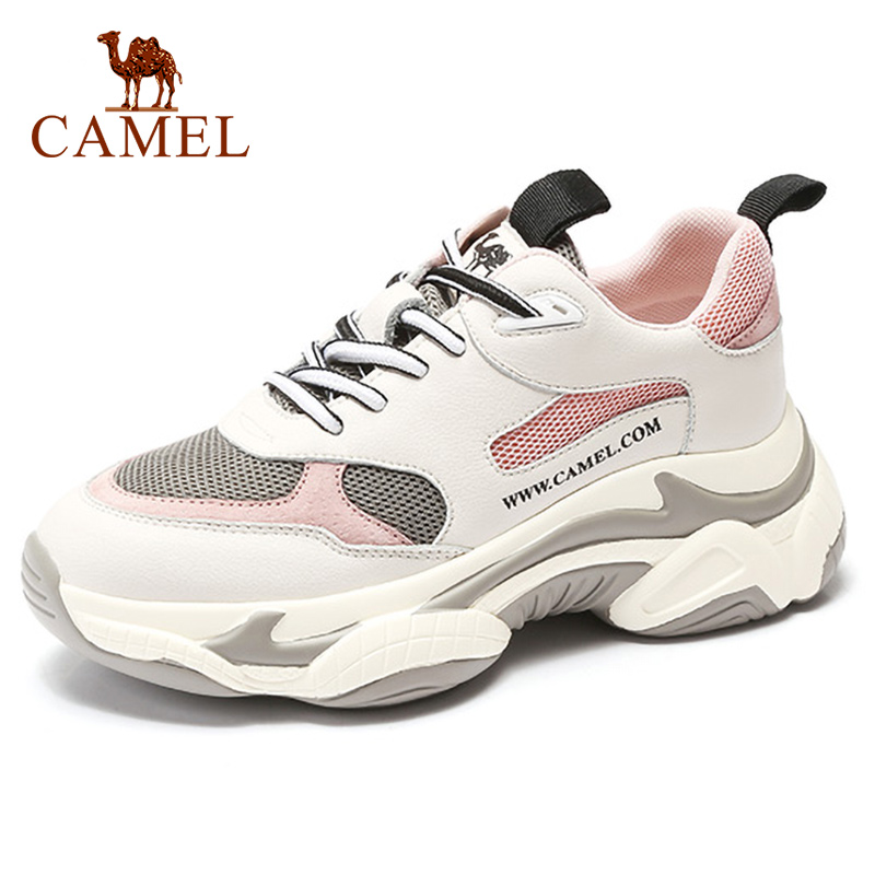 CAMEL Walking Shoes Sneakers Platform Women Winter Fashion Casual Breathable Shock-absorbent 2019 Sports