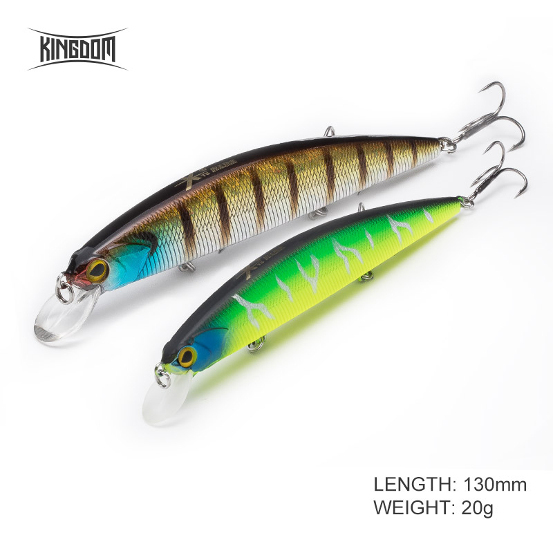 130mm20g 9 Colors Sea Fishing Minnow Fishing Lure 3 VMC Strong Hook 3523 Sporting Goods Baits, Lures & Flies