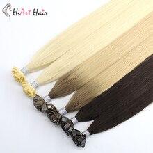 HiArt 0,8 г/шт. плоские пряди для наращивания волос пряди человеческих волос для Волосы remy волос Кератиновый плоский кончик расширение волосы double Drawn волос для наращивания