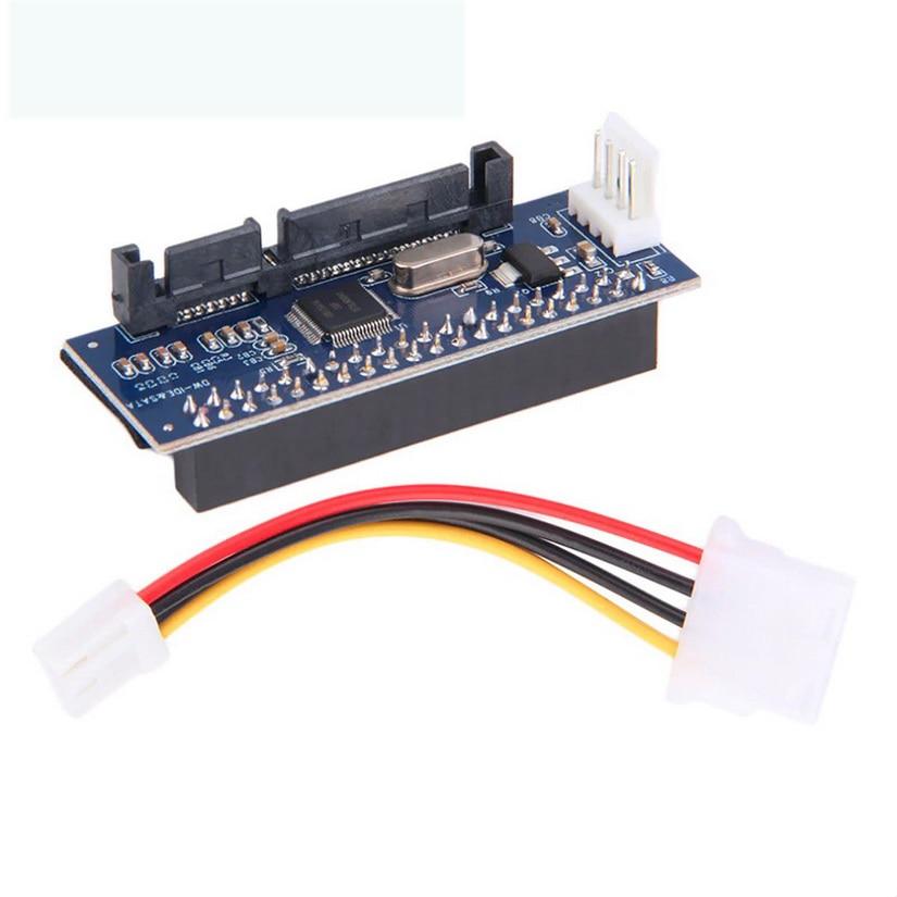 1PCS SATA IDE Adapter 40 Pin IDE To SATA Converter SATA-IDE Converter 3.5 HDD IDE Hard Disk Adapter With 7 Pin-SATA  Data Cable