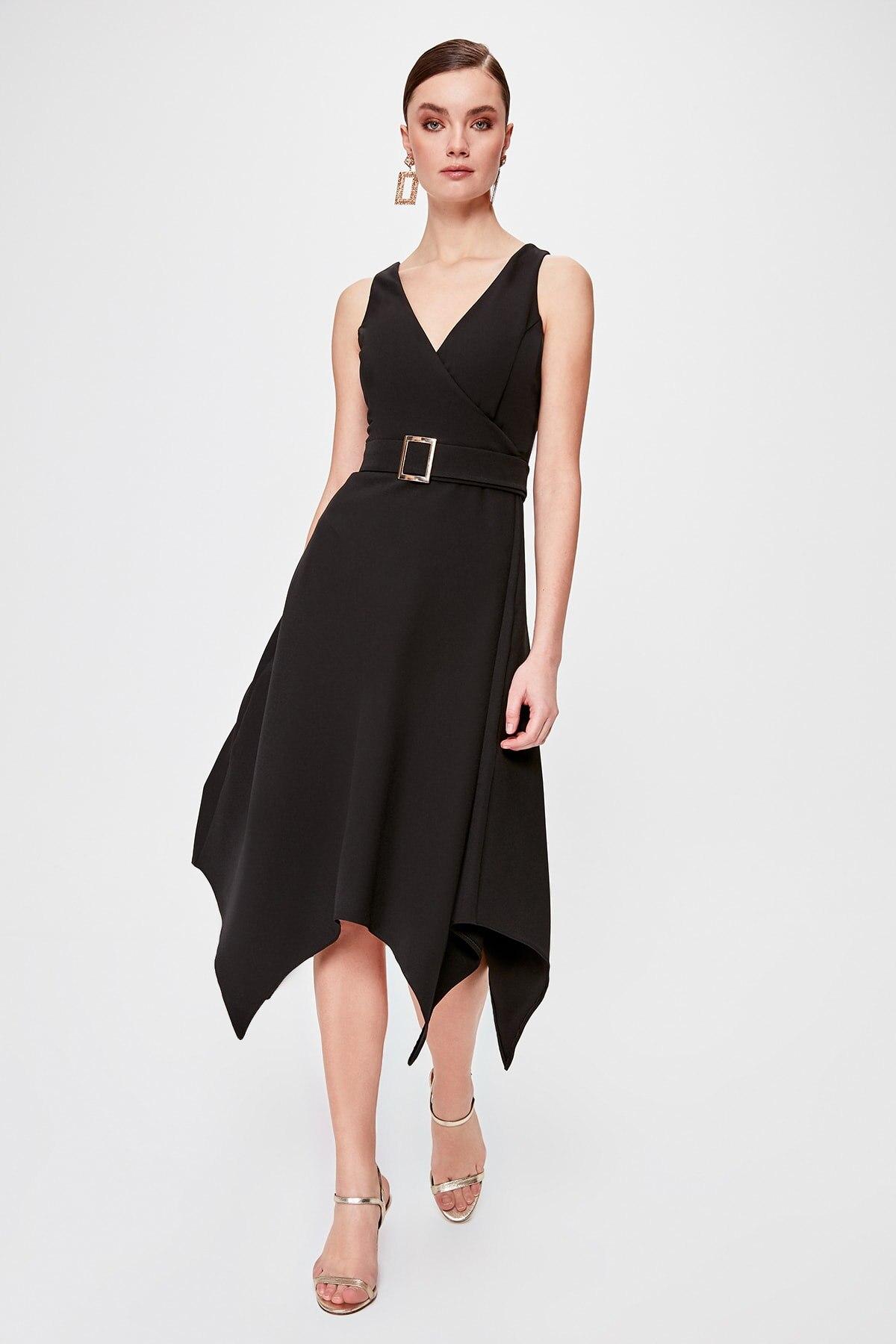 Trendyol Belt Detail Dress TPRSS20EL0052