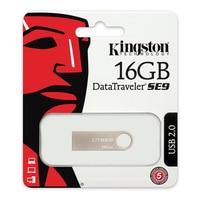 Pendrive kingston faelapha0171 dtse9h 16 gb usb 2.0 prata metal