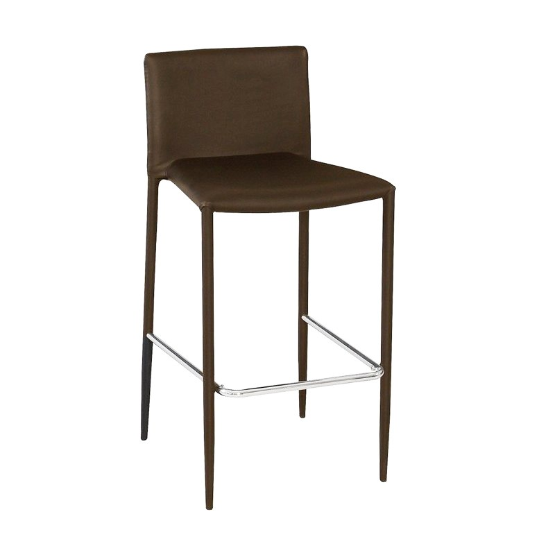 Stool ANNA, Stackable, Similpiel Chocolate Brown