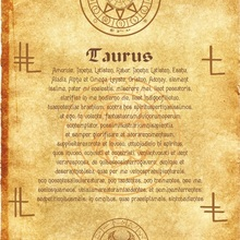 Древний прокрутка Ангел зодиацтавр wicca pagan Печать Искусство ведьма magick runes