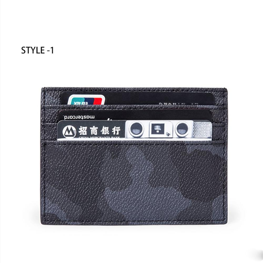 HORIZONPLUS  LUXURY Men  CAMOFLAGUE VEGAN Leather  CARD HOLDER SHORT WALLET