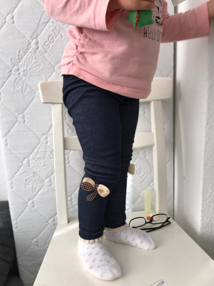 2019 thick warm winter spring Jean pants Bow Girls Leggings Kids trousers children  icing leggings-in Pants from Mother & Kids on AliExpress