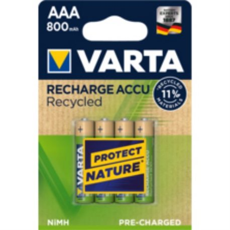 RECHARGEABLE Battery LR03 AAA 800MA VARTA 4 PZ