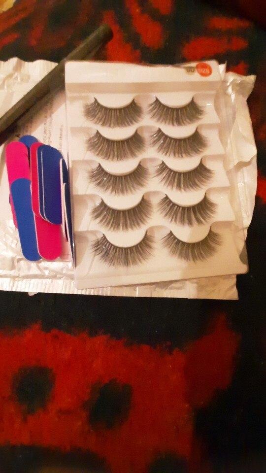 5pairs Natural False Eyelashes Mink Eye Lash Thick Long Lashes Makeup Beauty Extension Silk Eyelashes Tools reviews №1 274854