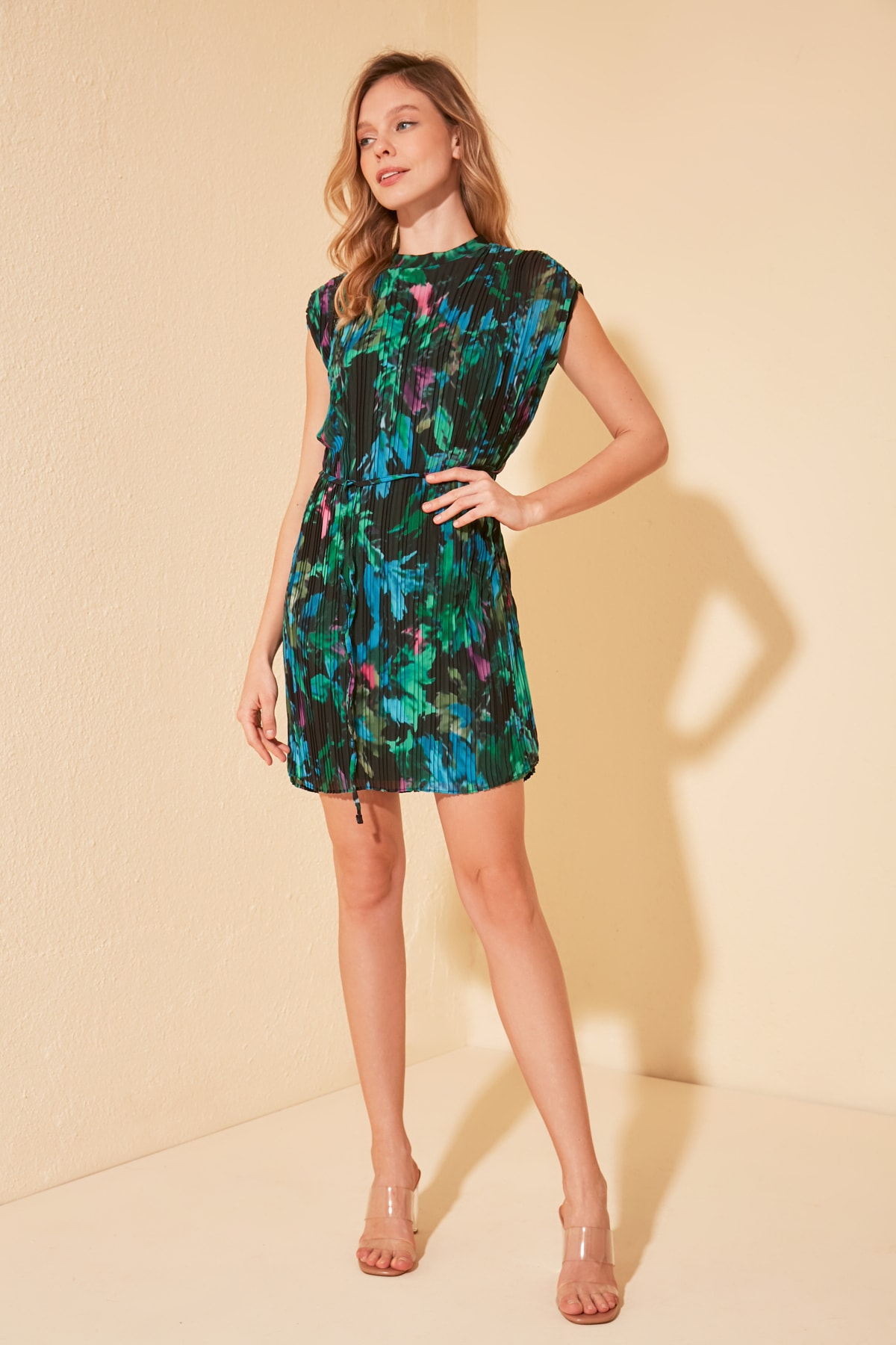 Trendyol Belted Print Dress TWOSS20EL1617
