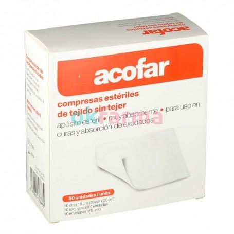 Acofar Compresses Sterile Fabric Non-Woven 10CM X 10CM 50 U